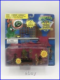 TMNT Mini Mutants Dino Jammin Combo 1995 New Sealed Super Rare