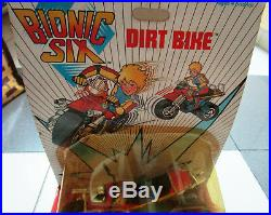 VINTAGE Rare 1986 BIONIC SIX DIRT BIKE figure TOY MOC LJN SEALED hard to find