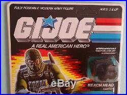 Vintage Arah 1986 G. I. Joe Case & Beach Head Figure Afa Ready Moc Sealed Rare Htf