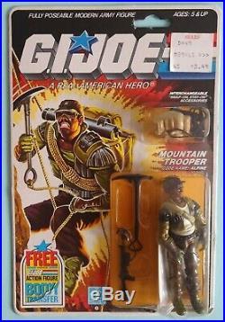 Vintage Free Gijoe Hasbro Case With 1985 Alpine Arah Factory Sealed Rare Moc