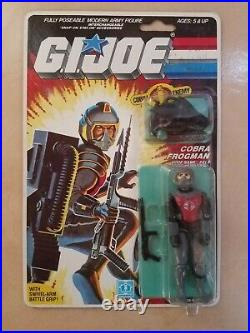 Vintage GI Joe Cobra Frogman Codename EEls 1985 Factory Sealed MOC Hasbro RARE