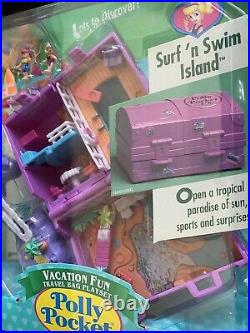 Vintage Polly Pocket 1996 SURF'N' SWIM ISLAND Vacation Fun in RARE SEALED PKG