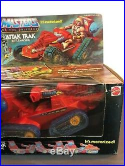 Vintage Rare 1982 He Man Attak Trak Masters of the Universe Moc Motu Sealed New