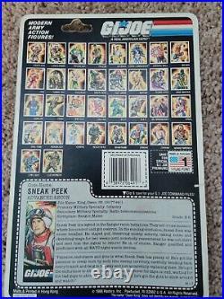 Vintage Rare Gi Joe 1986 Moc 3.75 Arah Sneak Peek New Factory Sealed Misp Moc