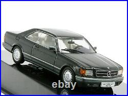 WOW EXTREMELY RARE Mercedes W126 500 SEC Coupe Blue Black 143 Auto Art-560-SE