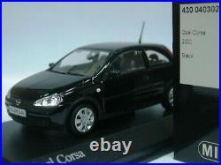 WOW EXTREMELY RARE Opel Corsa C 3d HB 1.4L 2000 Black 143 Minichamps-Manta