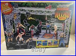 WWE WCW Ring Playset Arena Monday Nitro NEW Sealed Vintage Toy Biz WWF RARE 1999